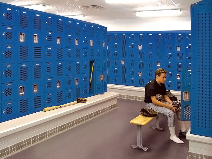 Steel Locker System for Baseball Team