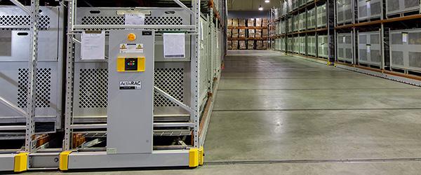 High-density parachute storage system